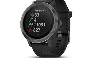 Garmin vívoactive 3, GPS Smartwatch Contactless Payments Built-in Sports Apps, Black/Gunmetal