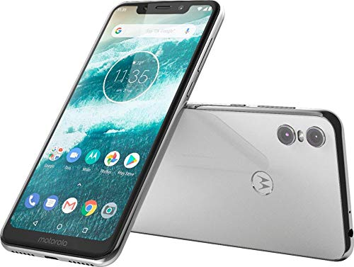 Motorola Moto One – Android One – 64 GB – 13+2 MP Dual Rear Camera – Dual SIM Unlocked Smartphone (AT&T/T-Mobile/MetroPCS/Cricket/H2O) – 5.9″ HD+ Display – XT1941-3 – (International Version) (White)